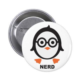 Pinguin - nerd - penguin runder button 5,7 cm