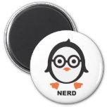 Pinguin - nerd - penguin runder magnet 5,1 cm