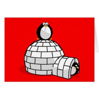 Pinguin Notecard Karte