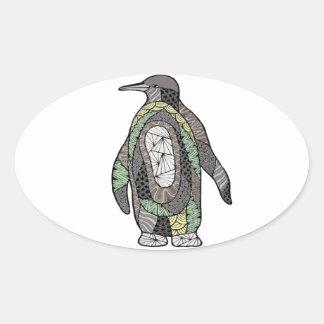 Pinguin Ovaler Aufkleber