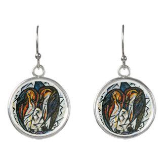 Pinguin-Paar-Tropfen-Ohrringe Ohrringe