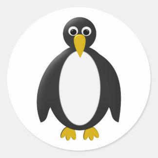 Pinguin penguin runder aufkleber