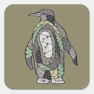 Pinguin Quadratischer Aufkleber