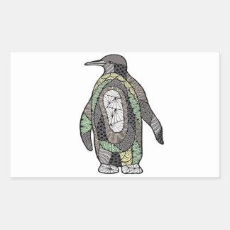 Pinguin Rechteckiger Aufkleber