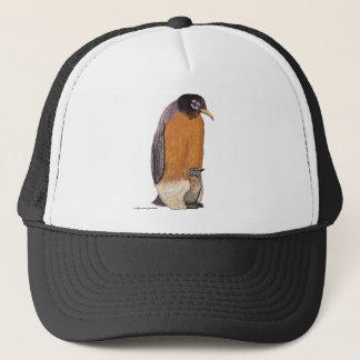 Pinguin Robin mit Küken Truckerkappe