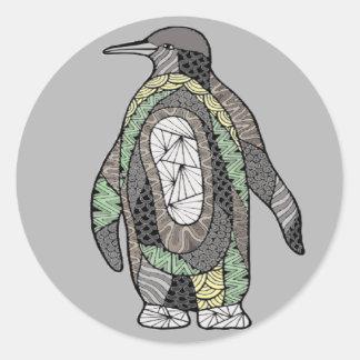 Pinguin Runder Aufkleber