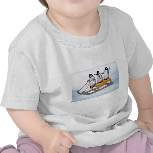Pinguin-Schlitten Tshirts