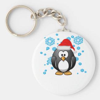 Pinguin-Schneeflocke-Winter-EntwurfHoodie. Schlüsselanhänger