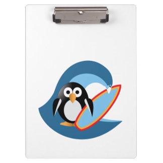 Pinguin-Surfer Klemmbrett