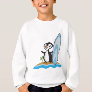 Pinguin-Surfer Sweatshirt