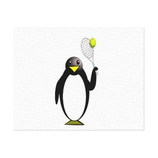 Pinguin-Tennis Leinwanddruck