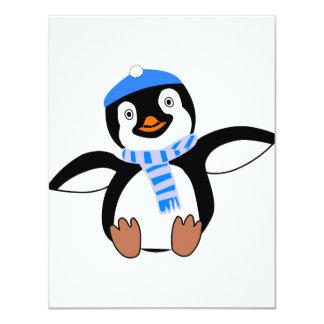 Pinguin tragende ein Schal-Einladungen Karte