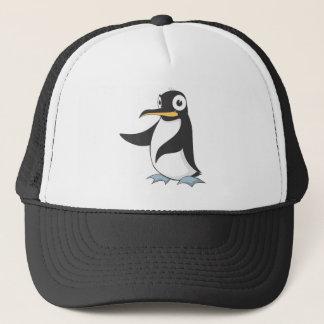 Pinguin übergibt herauf das Zeigen von Truckerkappe