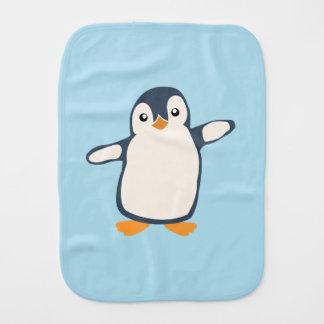Pinguin-Umarmungs-Baby-Illustration Spucktuch