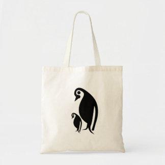 Pinguin und Küken Budget Stoffbeutel