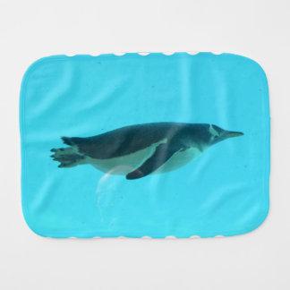 Pinguin Unterwasser Baby Spucktuch