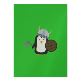 Pinguin Viking 14 X 19,5 Cm Einladungskarte