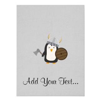 Pinguin Viking 16,5 X 22,2 Cm Einladungskarte