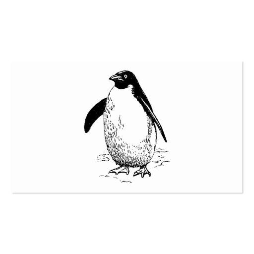 Pinguin-Vogel-Kunst Visitenkarten
