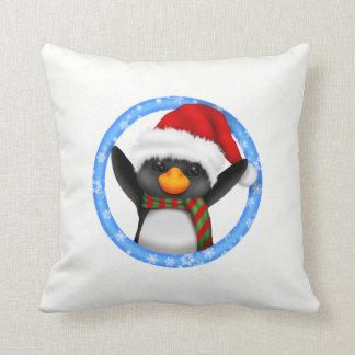 Pinguin-Weihnachten Kissen