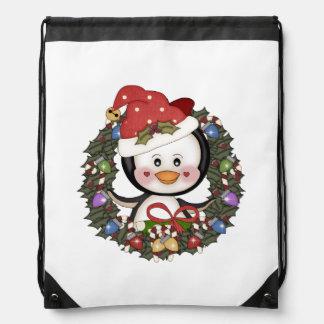 Pinguin-Weihnachten Turnbeutel