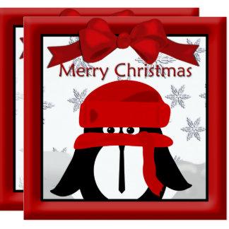 Pinguin-Weihnachtsgruß Karte