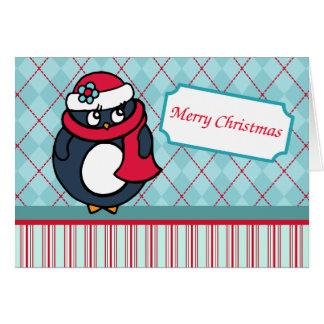 Pinguin-Weihnachtskarte Karte