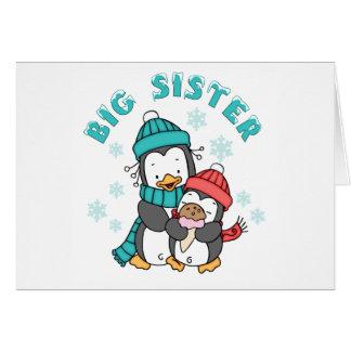 Pinguin-Winter-große Schwester Karte