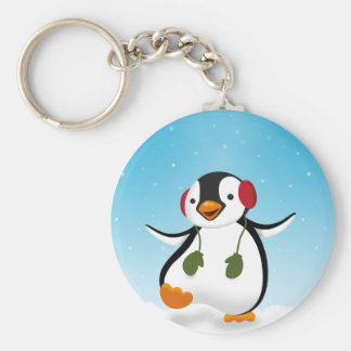 Pinguin-Winter-Illustration - Keychain Schlüsselanhänger