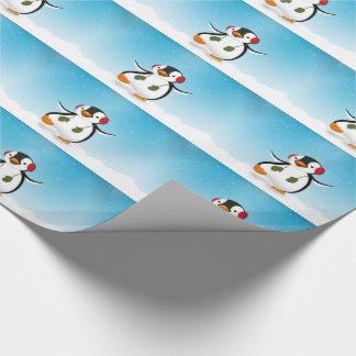 Pinguin-Winter-Illustration - Packpapier