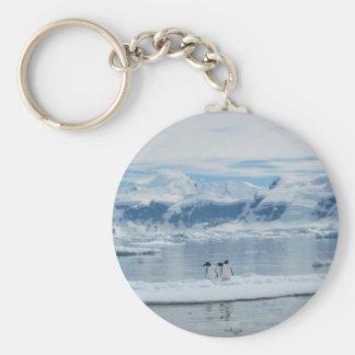 Pinguine auf einem Eisberg Schlüsselanhänger