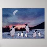 Pinguine auf Eis-Druck Plakatdruck