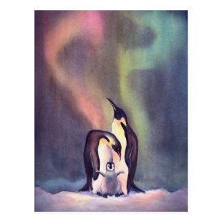 PINGUINE durch SHARON SHARPE Postkarte