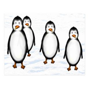 Antarkt quadratische Postkarte kleine Kaiserpinguine