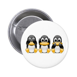Pinguine Runder Button 5,1 Cm