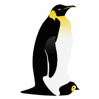 Pinguinelternteil mit seinem Baby Freistehende Fotoskulptur