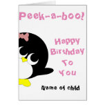Pinguingeburtstagskarte für junges Mädchen Karten