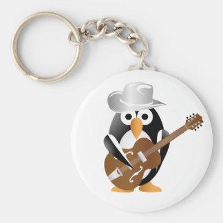 Pinguingitarrist Schlüsselanhänger
