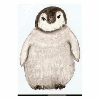 Pinguinküken Freistehende Fotoskulptur