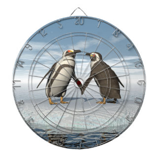 Pinguinpaare Dartscheibe