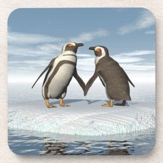 Pinguinpaare Getränkeuntersetzer