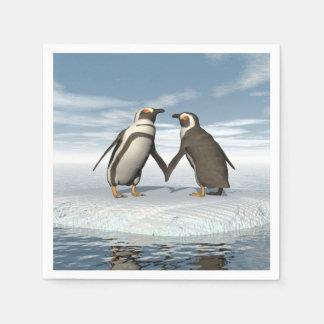 Pinguinpaare Papierservietten