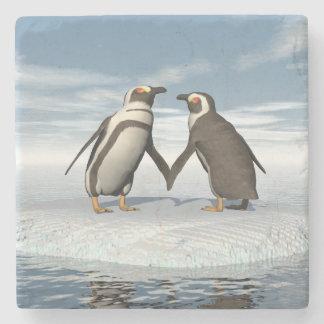 Pinguinpaare Steinuntersetzer