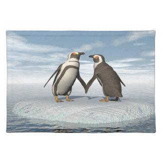 Pinguinpaare Tischset