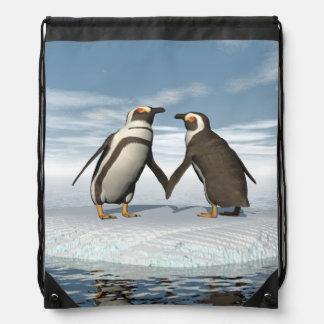 Pinguinpaare Turnbeutel