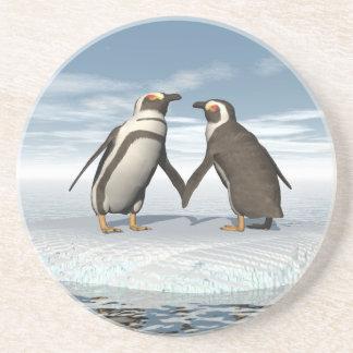 Pinguinpaare Untersetzer
