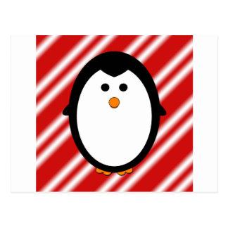 Pinguinstreifen Postkarte