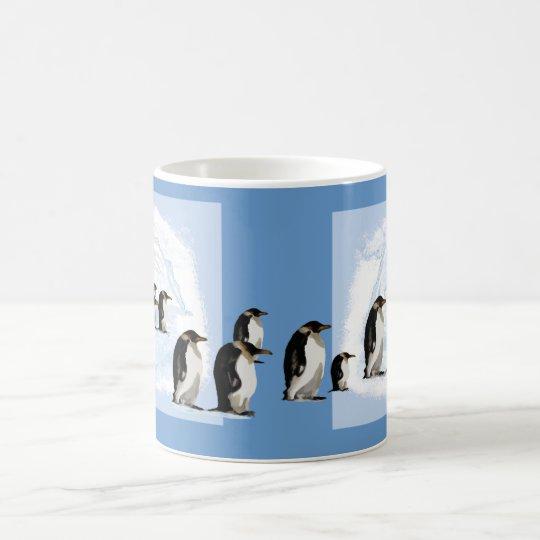Pinguinwanderung auf dem Eis Kaffeetasse