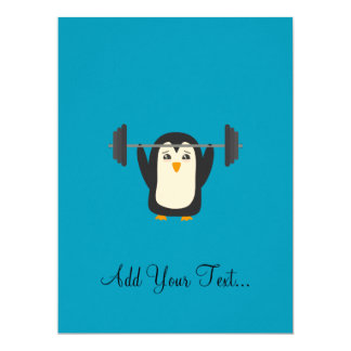 PinguinWeightlifting 16,5 X 22,2 Cm Einladungskarte