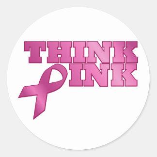 pink_03 runder aufkleber